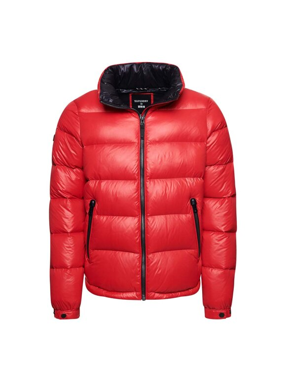 Superdry - Alpine Luxe Dunjakke   Herrer   High Risk Red