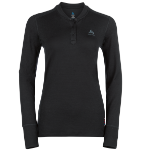 ODLO WOMENS SUW TOP STAND-UP COLLAR L/S 100% MERINO SKIUNDERTRØJE